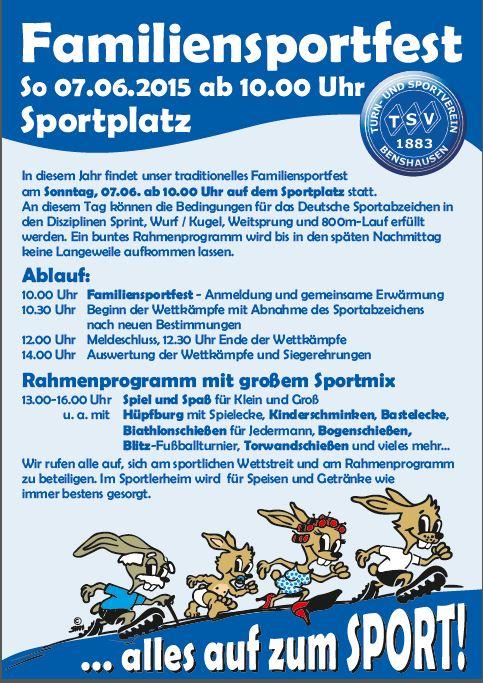 Plakat Familiensportfest