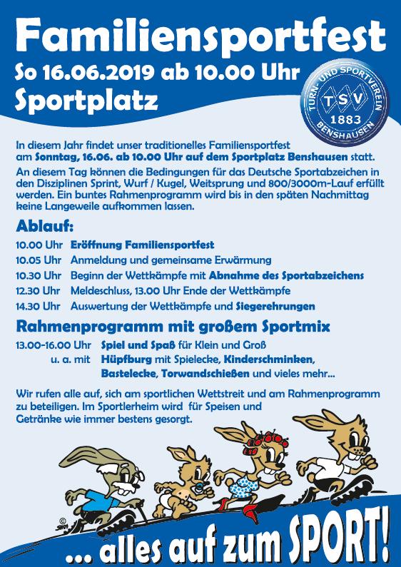 Familiensportfest 2019 Programm